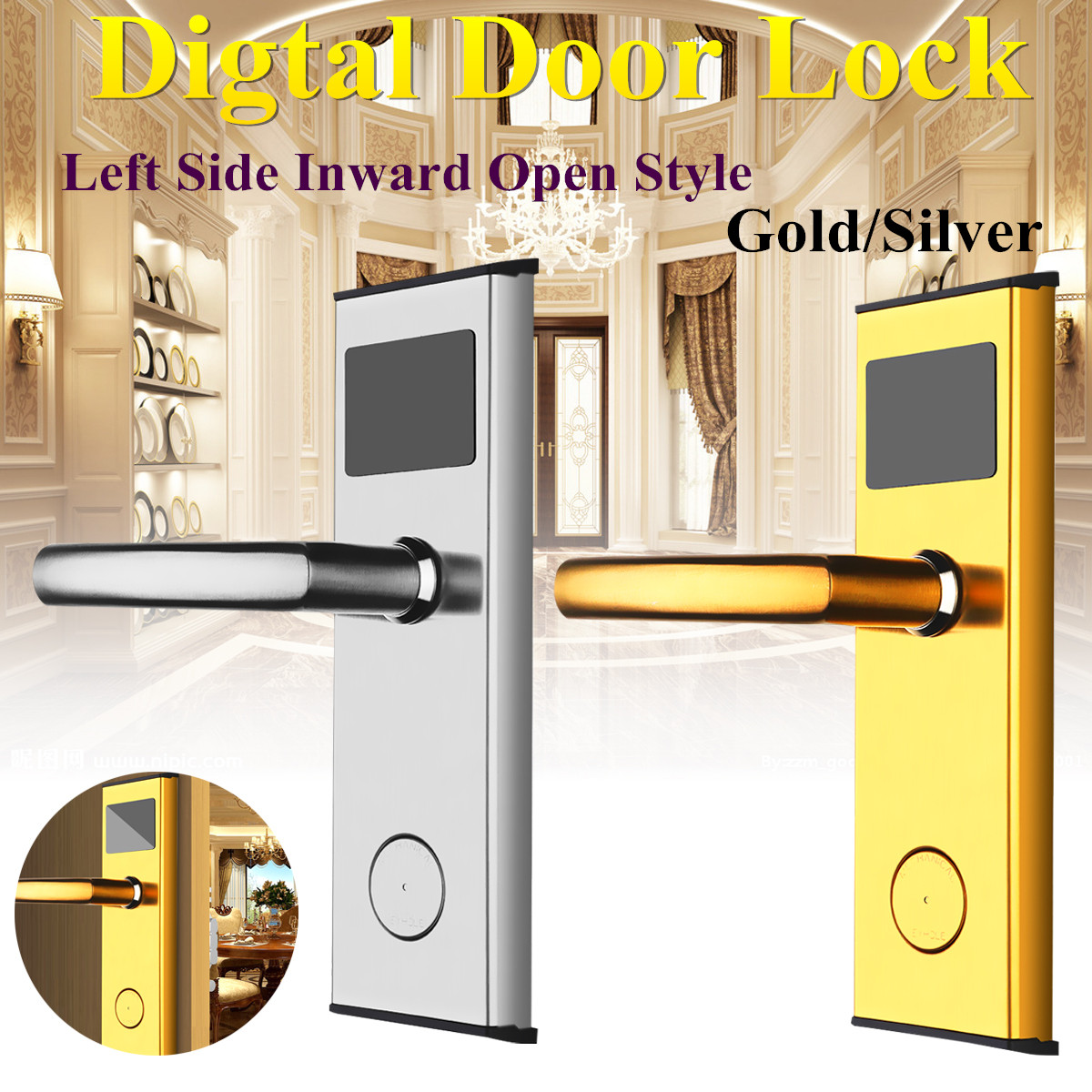 Digital Lock for Hotel Door With Cards Keys Anti-rust And Anti-Corrosion Door Entry Controller