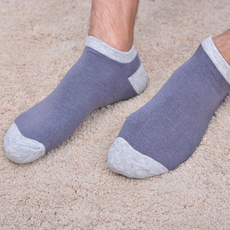 5 Pairs Men Summer Cotton Sweat Deodorant Shallow Sock