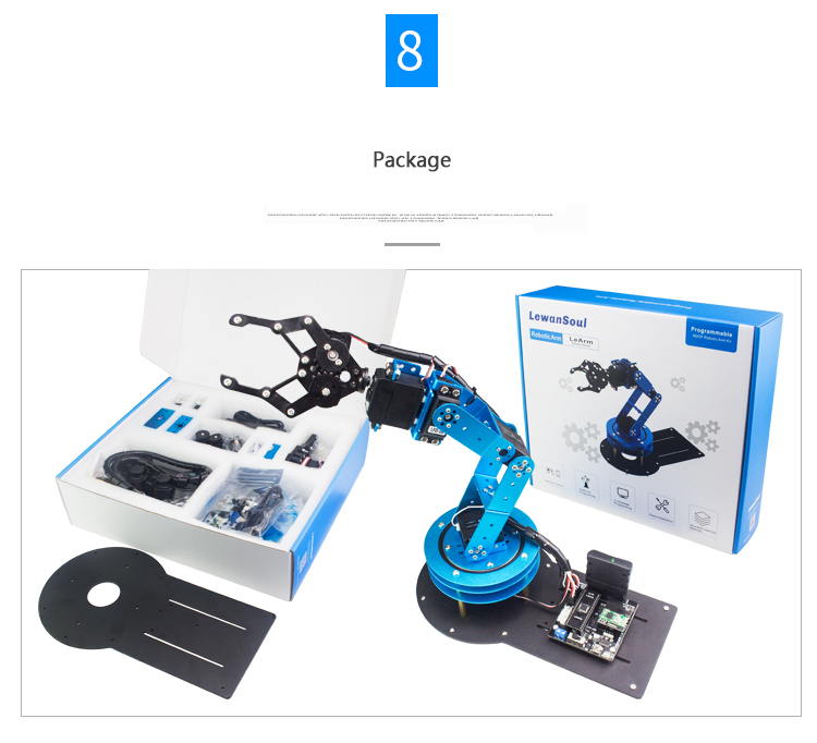 LeArm DIY 6DOF Robot Arm With Claw Holder Servo Support STM32/Arduino/51