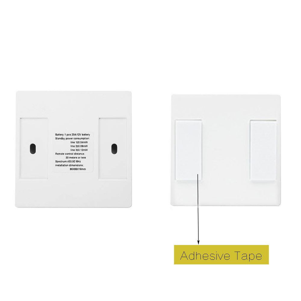 1/2/3 Gang Touch Control Outlet Wireless Light Switch with 3PCS Receivers Kit for Household Appliances Unlimited Connections Control Module Switch Panel Housing