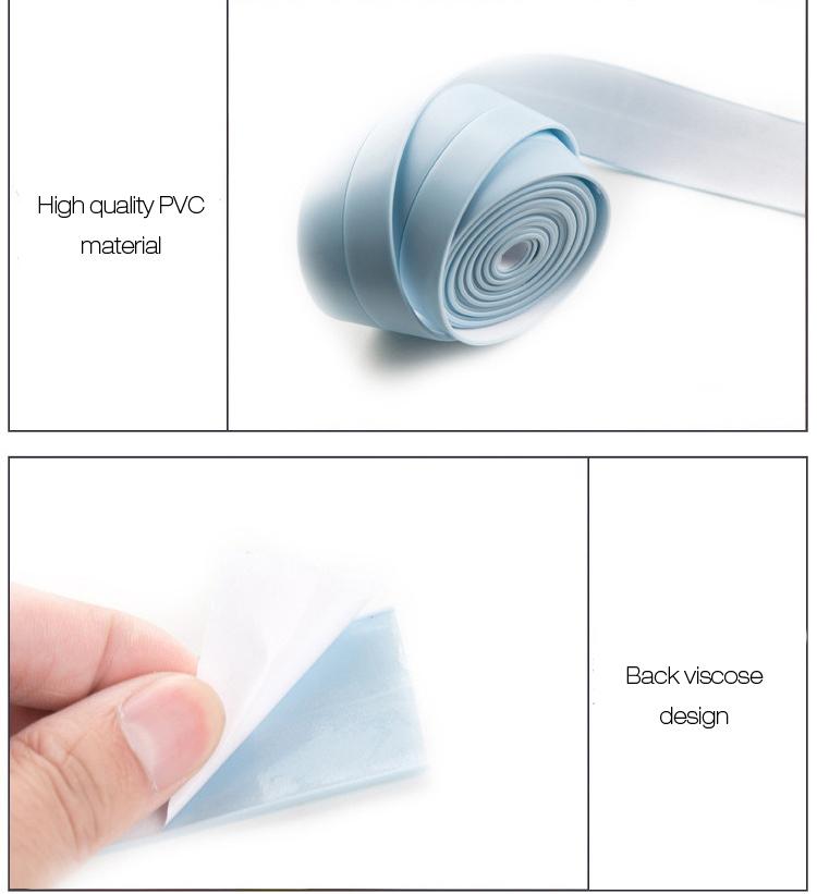Honana DX-121 255cm PVC Gap Anti-fouling Waterproof Sticker Seal Ring Strip Dust-proof Kitchen Toilet Wall Tape