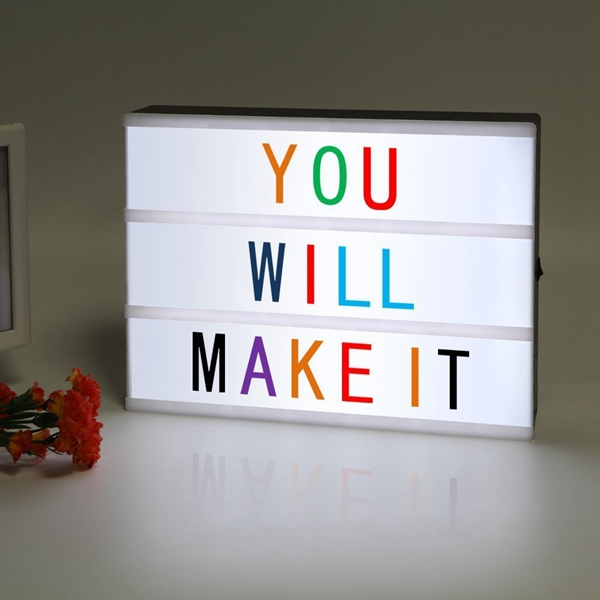 LED USB Night Light Box with A4 Letter Card DIY Combination for Wedding Party Christmas Decor