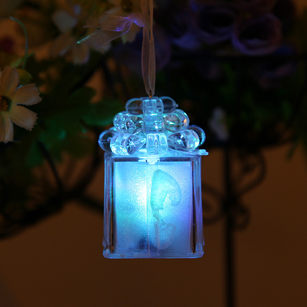 Cute LED Color Changing Christmas Box Light for Gift Home Party Decor