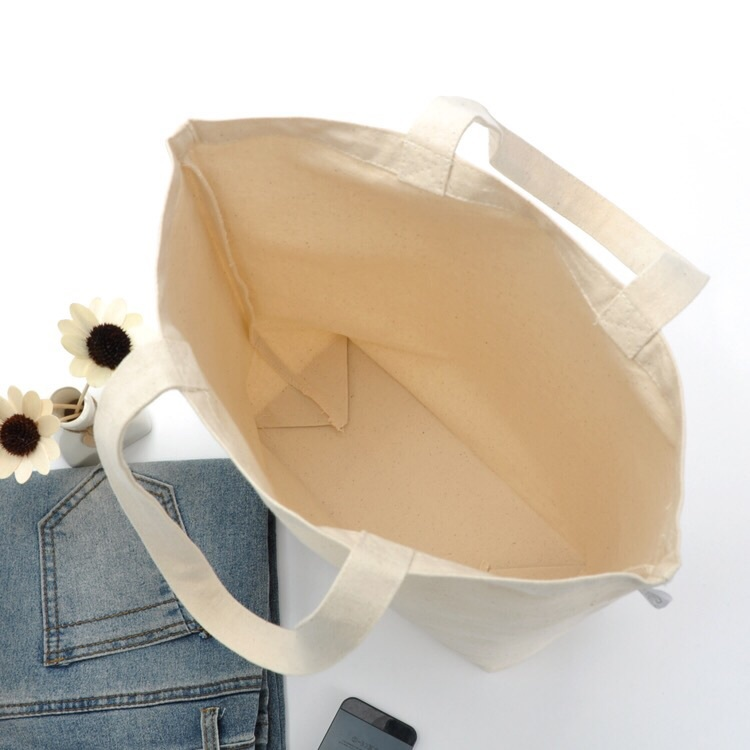 Canvas Blank Bag Reusable DIY Shoulder Tote Bag Shopping Shopper