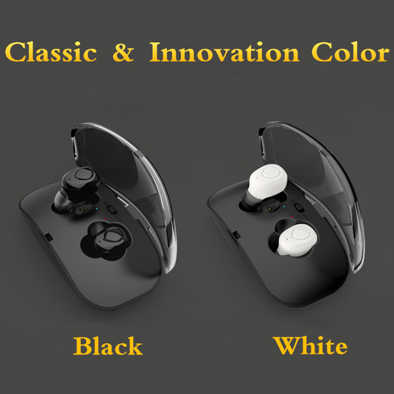 [True Wireless] TWS Dual bluetooth Earphone Noise Cancelling Stereo Headphones with Charging Box