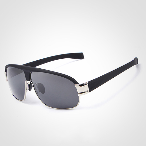 Mens Summer V400 Polarized Sun Glassess Casual Outdooors Metal Frame Anti Glare Eye Wear