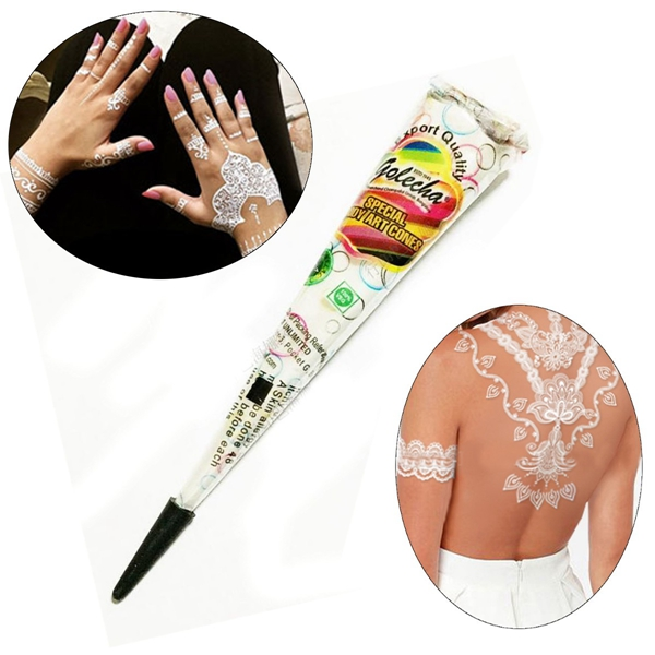 Natural White Henna Paste Cone Temporary Tattoo Body Ar