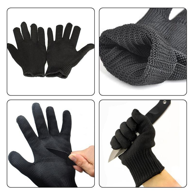 Proof Protect Stainless Steel Wire Safety Gloves Cut Metal Mesh Anti-cutting Work Gloves