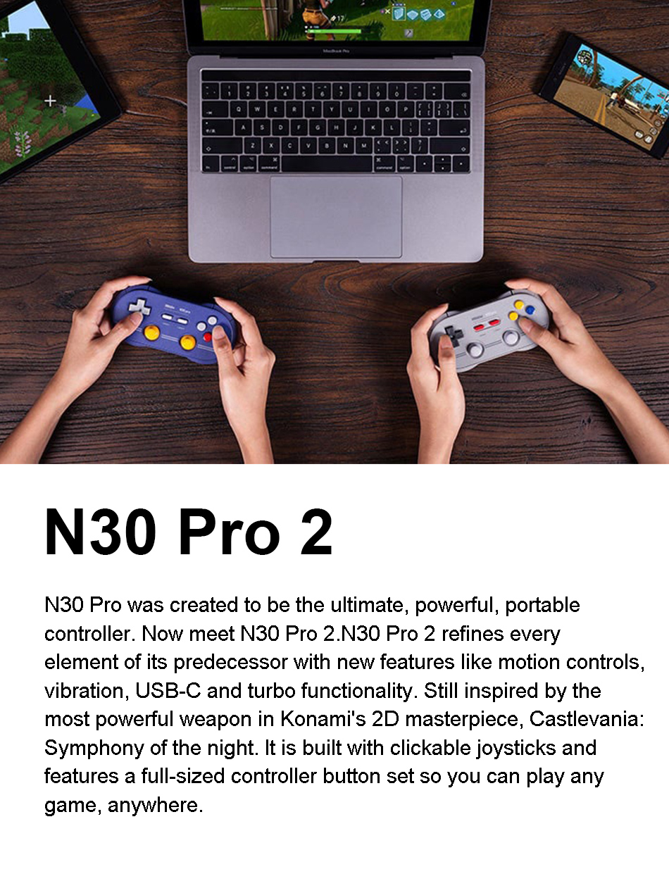 8Bitdo N30 Pro2 Wireless bluetooth Controller Gamepad for Nintendo Switch Windows for MacOS Android for Raspberry PI