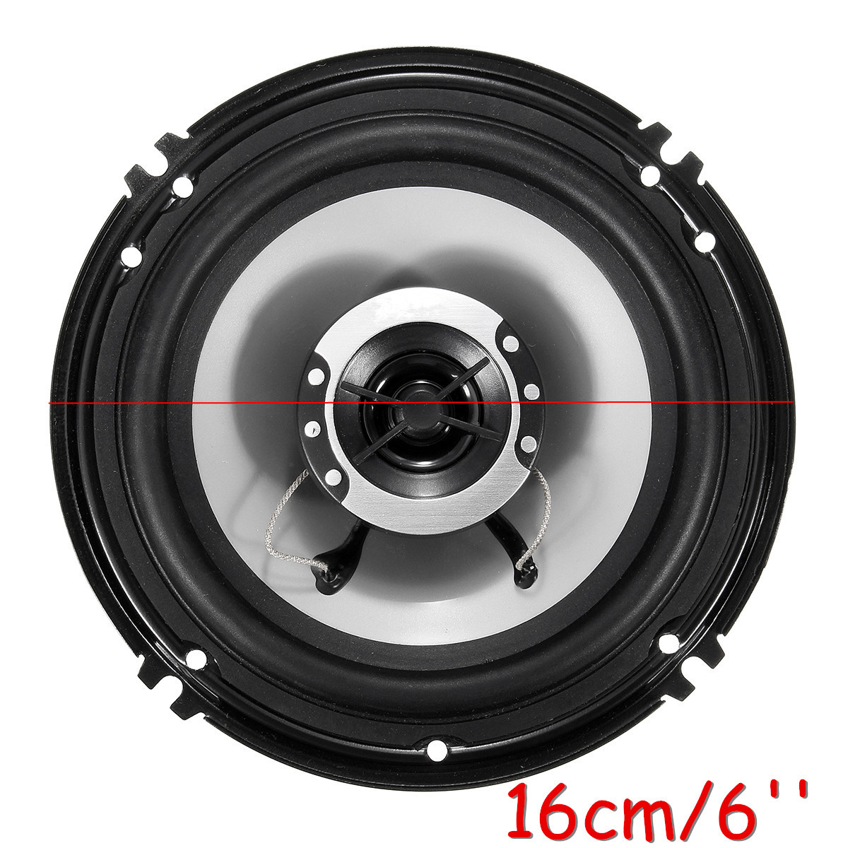 Pair 6inch 400W Coaxial Audio Stereo Horn SubWoofer Motorcycle Car Door Speakers