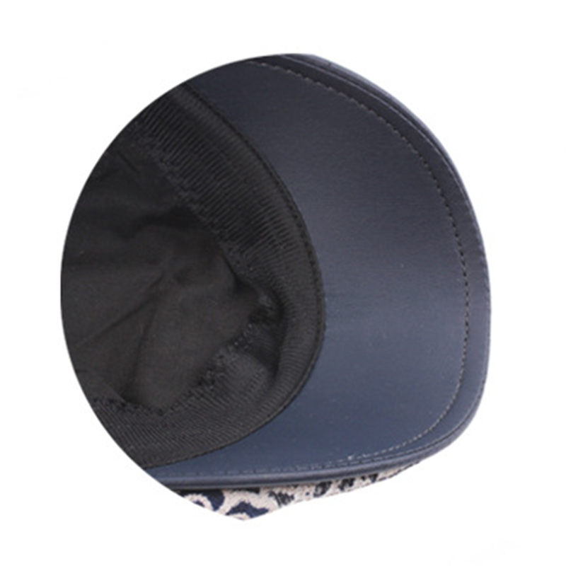 Women Embroidery Mesh Thin Sunscreen Leather Cap