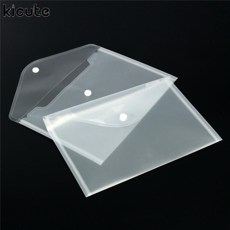 12Pcs Transparent Plastic Paper Storage Document Wallets File Folder Filing Paper Storage