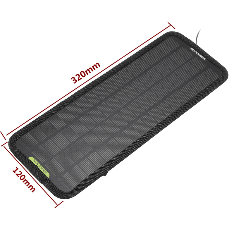 12V 4.5W Portable Car Solar Panel Battery Power Backup Charger for Car Boat