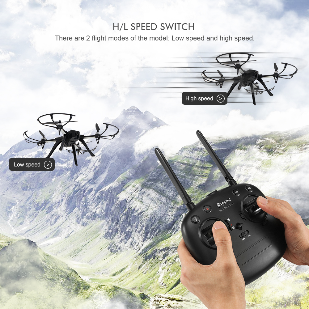 Eachine EX2H Brushless 5.8G FPV With 720P HD Camera Alititude Hold RC Drone Quadcopter RTF - Photo: 11
