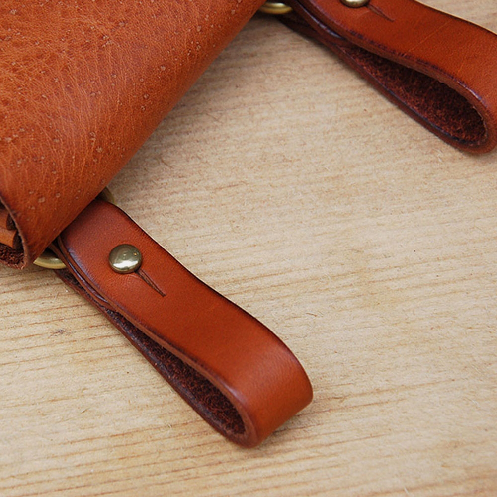 Men Genuine Leather EDC Multifunction Lighter Case 6.5 Inch Phone Bag Waist Bag Belt Sheath