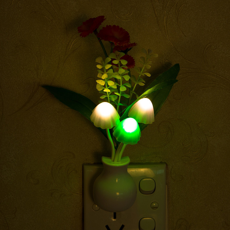 Orange Red Sunflower LED Dimming Night Light 7 Colors Changing Light Control Home Wall Decor Gift