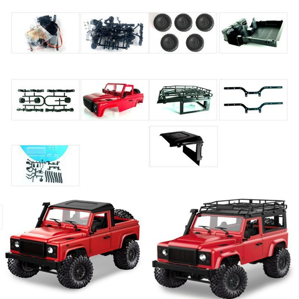 1 Set MN-90 Kit 1/12 2.4G 4WD Rc Car Crawler Monster Truck Without ESC Transmitter Receiver Battery