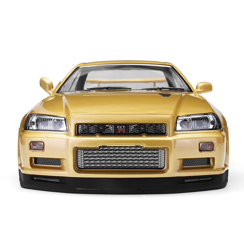 Killerbody 48645 NISSAN SKYLINE (R34) Finished Body Shell Champaign-gold for 1/10 Touring Car - Photo: 4
