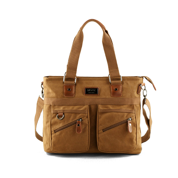 Details: Material Canvas Color Black, Coffee, Khaki Weight 750g Length 39cm (15.35'') Height 30cm (11.81'') Width 7cm (2.76'') Strap Length 65cm(25.59'')-120cm (47.24'') Inner Pocket Main Pocket, Zipper Pocket,Phone Pocket, Card Pocket, 2*Front Zipper Poc #handbag