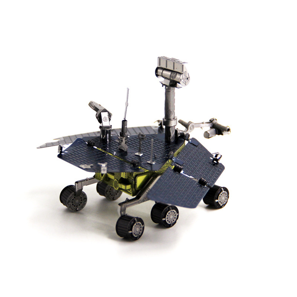 Aipin DIY 3D Metal Mars Rover Puzzle Stainless Steel Model Building Kit Collection Gift