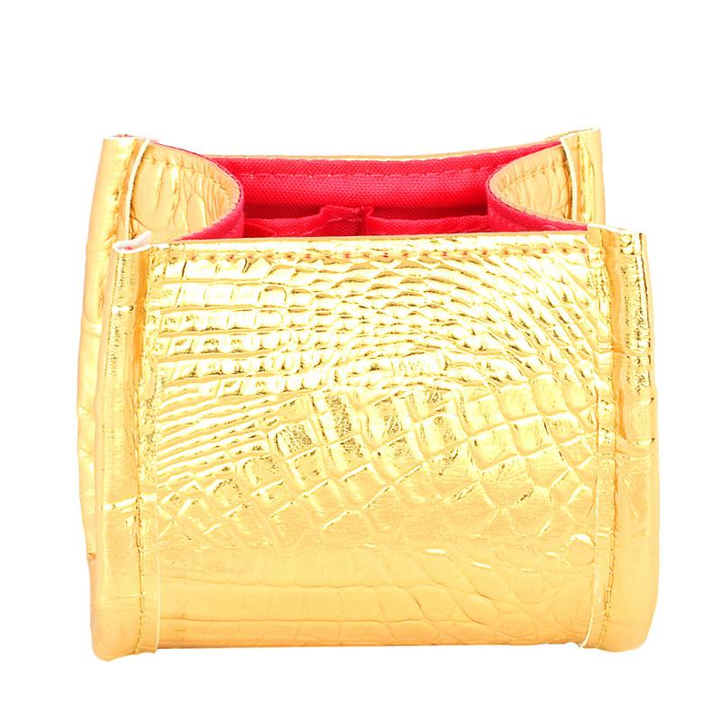 3 Colors Crocodile Skin Brush Storage Cosmetic Bag