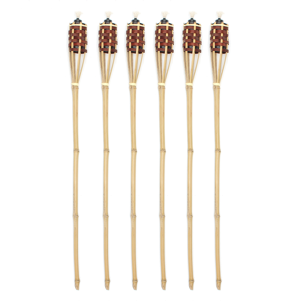 6Pcs Bamboo Tiki Torches Bamboo Covers 90cm Bamboo Torches Tools Kit