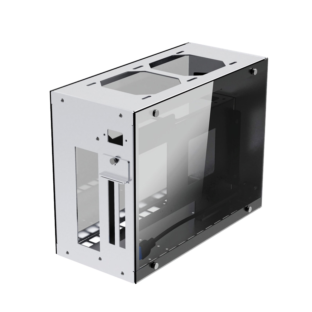 CEMO A4 Aluminum Alloy Tempered Glass ITX Computer Case Mini Case