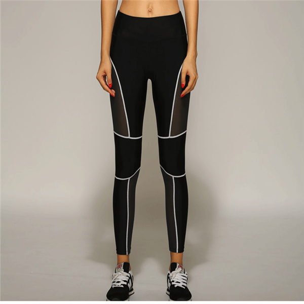 Female Sexy Fitness Trousers Honeycomb Mesh Fabric Hip Up Elasticity Sport Leggings
