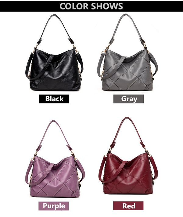 Women Quality PU Leather Functional Handbag Shoulder Bag Crossbody Bag