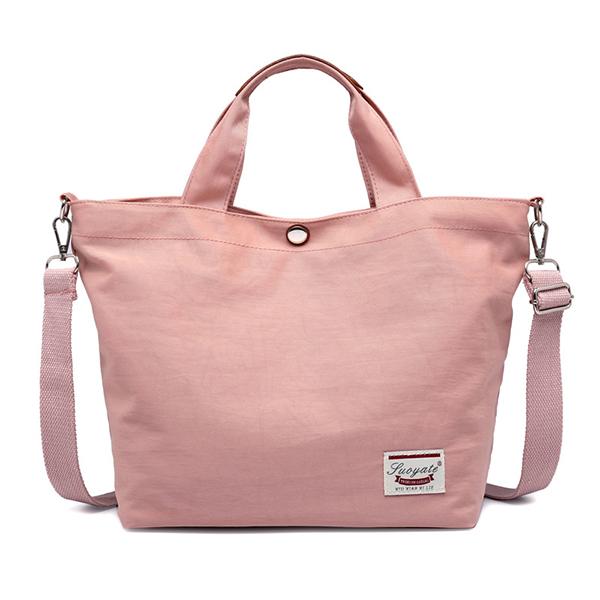 Women Canvas Tote Bag Solid Handbag