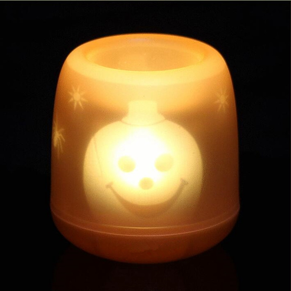 Colorful Flameless Voice Control LED Table Lamp Night Light for Christmas Halloween