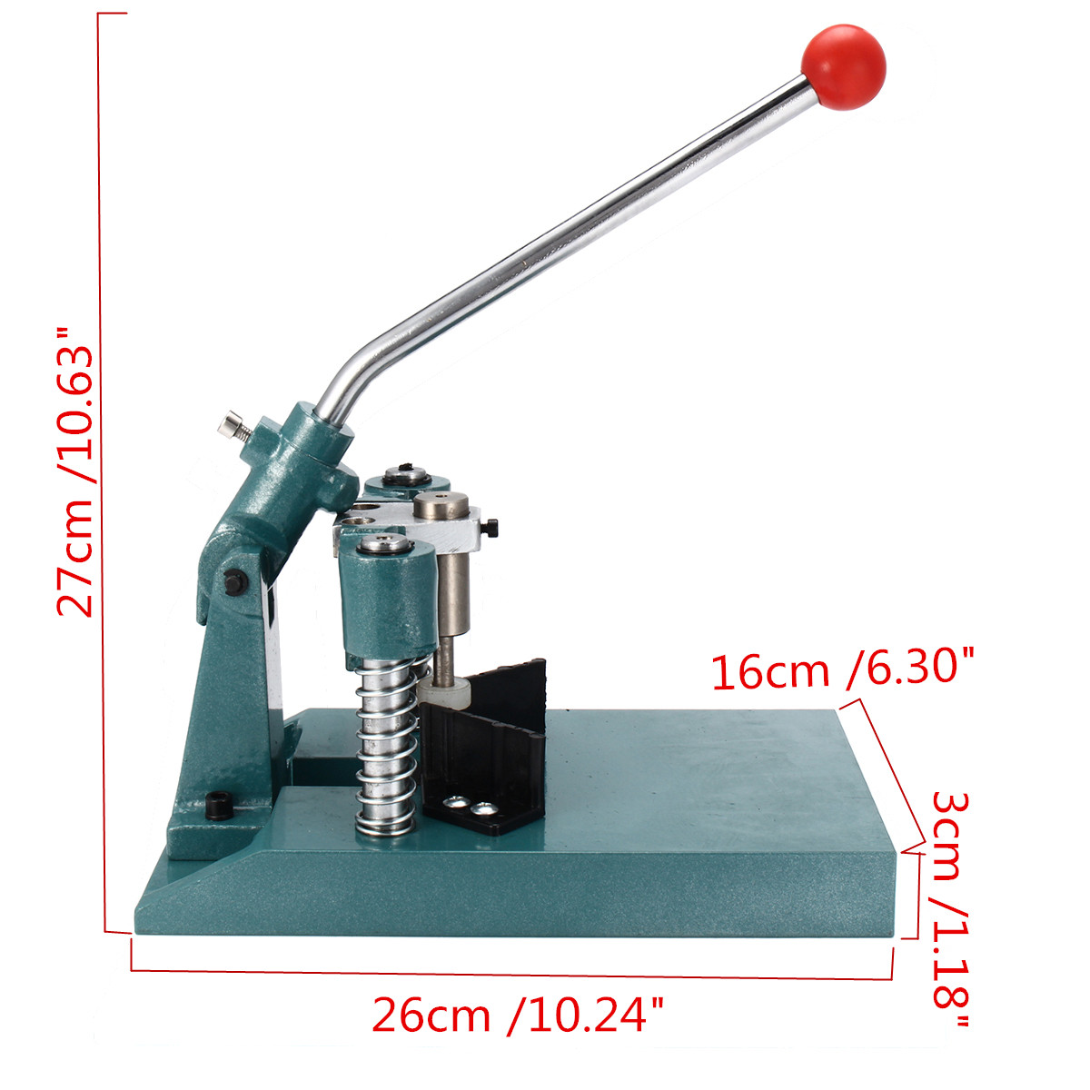 Corner Rounder Punch Cutter with Two Kinds Blades R6(1/4Inch) R10(3/8Inch) PVC Paper Alumium Stack