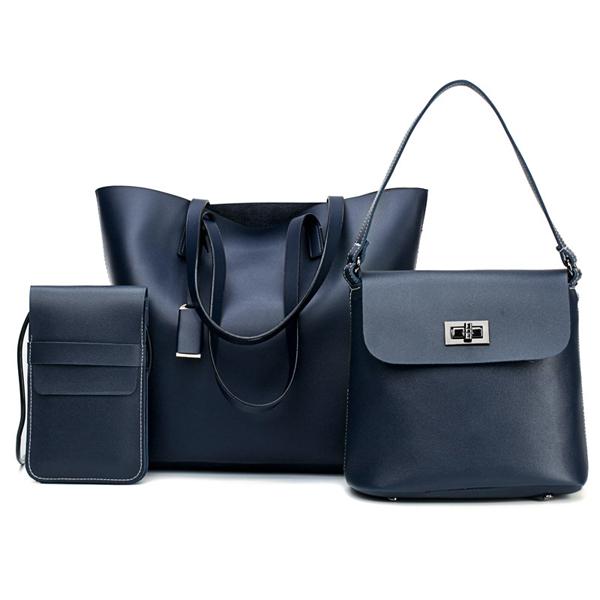 Details: Material Faux Leather Color Black, Blue, Grey, White Weight 900g Length Handbag:34cm(13.39') Shoulder Bag:22cm(8.66') Phone Bag:12cm (4.72'') Height Handbag:30cm (11.81'') Shoulder Bag:22cm(8.66') Phone Bag: Width Handbag:12cm (4.72'') Shoulder B #handbag