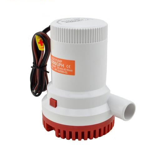 High Pressure 2000GPH Boat Bilge Pump 24V Bilge Bump 24V DC 12V Kayak Rule Water Electric 2000 GPH 12 Volt