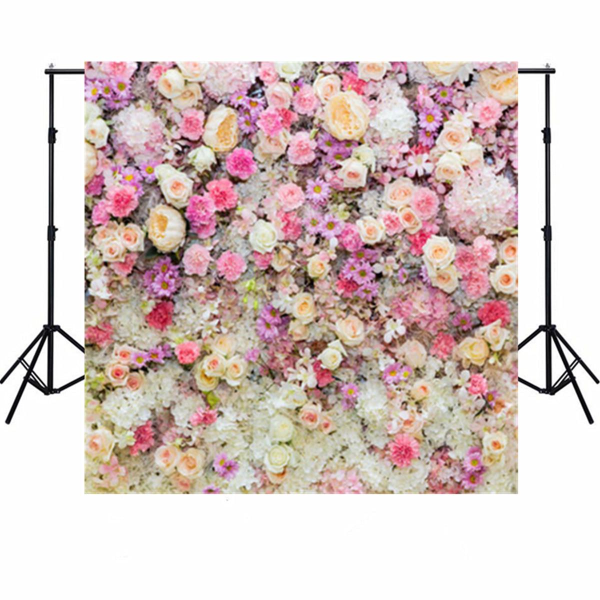 5x5FT Vinyl Valentine's Day Love Flowe Blossom Photo Studio Backdrop Photography Background