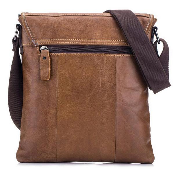 Bullcaptain® Men Black Brown Business Bag Casual Shoulder Bag Sling Bag