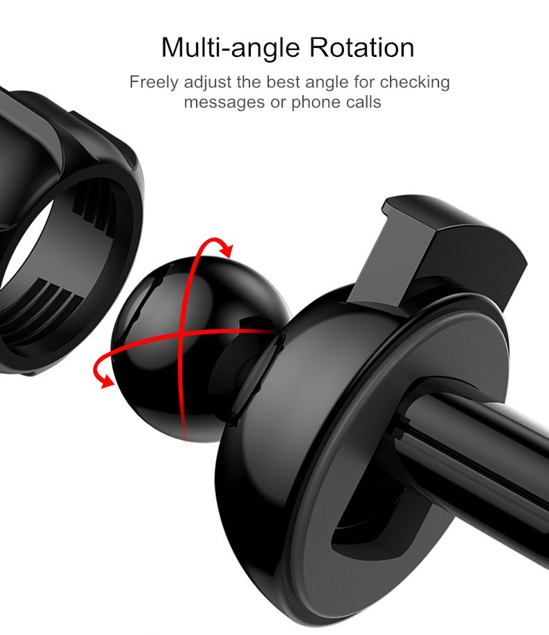 TOTU Gravity Linkage Automatical Lock Car Mount Air Vent Holder for Samsung Xiaomi Mobile Phone