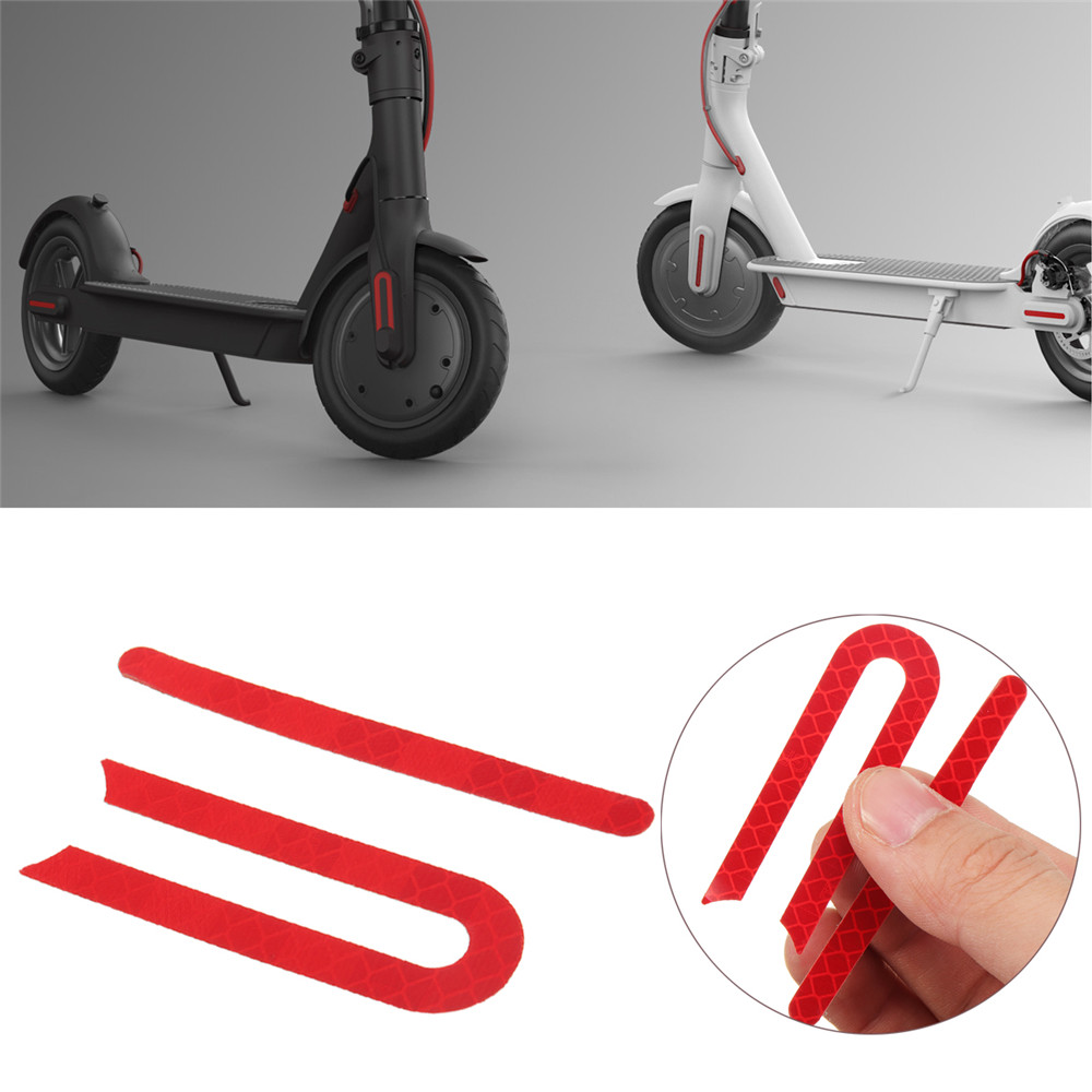 Front And Rear Wheels Rubber Reflective Stickers For Xiaomi Mijia M365 E-Scooter