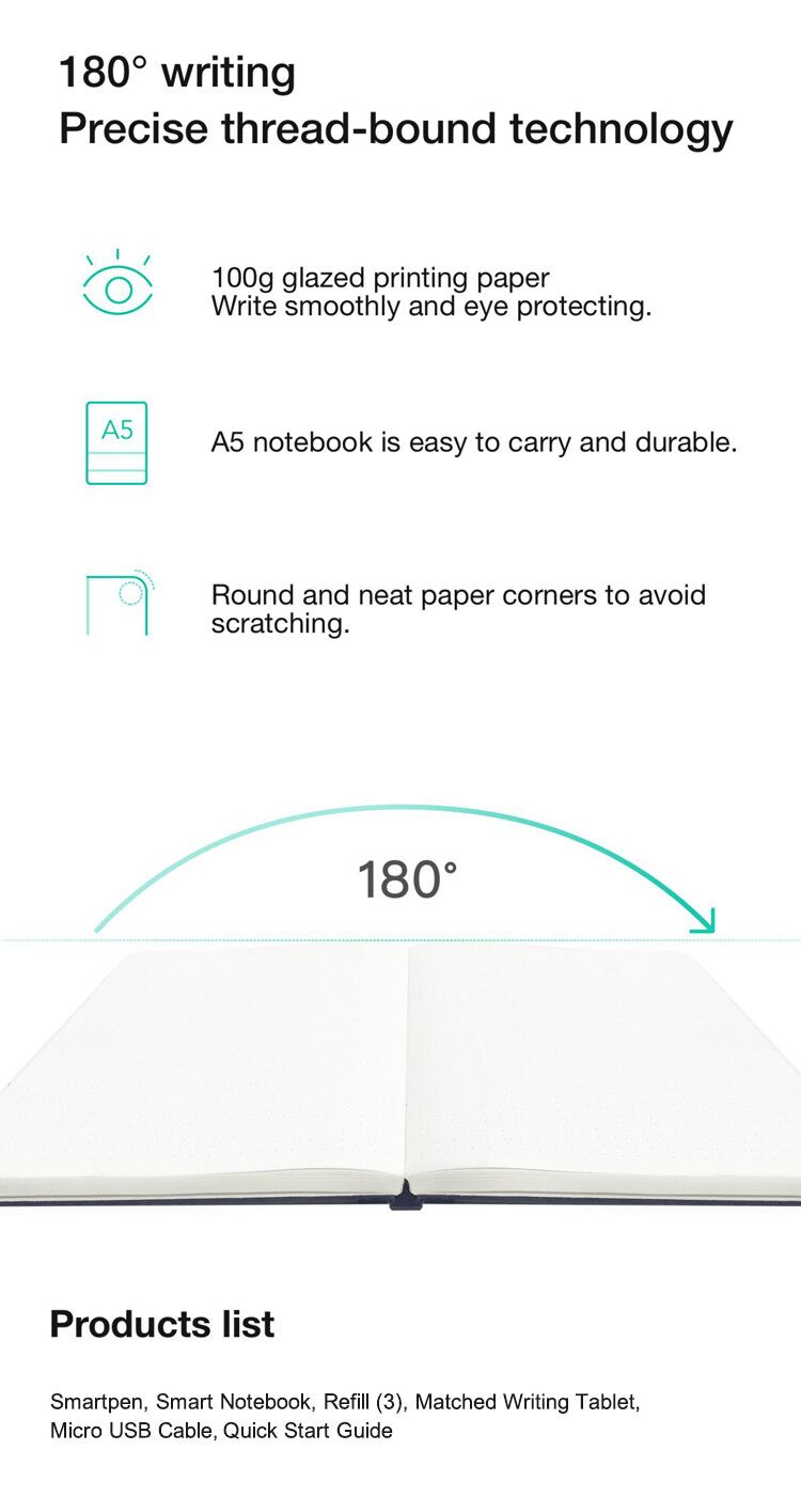 NEWYES 4P100B Cloud Pen Smart Writing Set Notebook Electronic Notepad Paper Screen Synchronous Pen Business Meeting Writing Table - Photo: 6