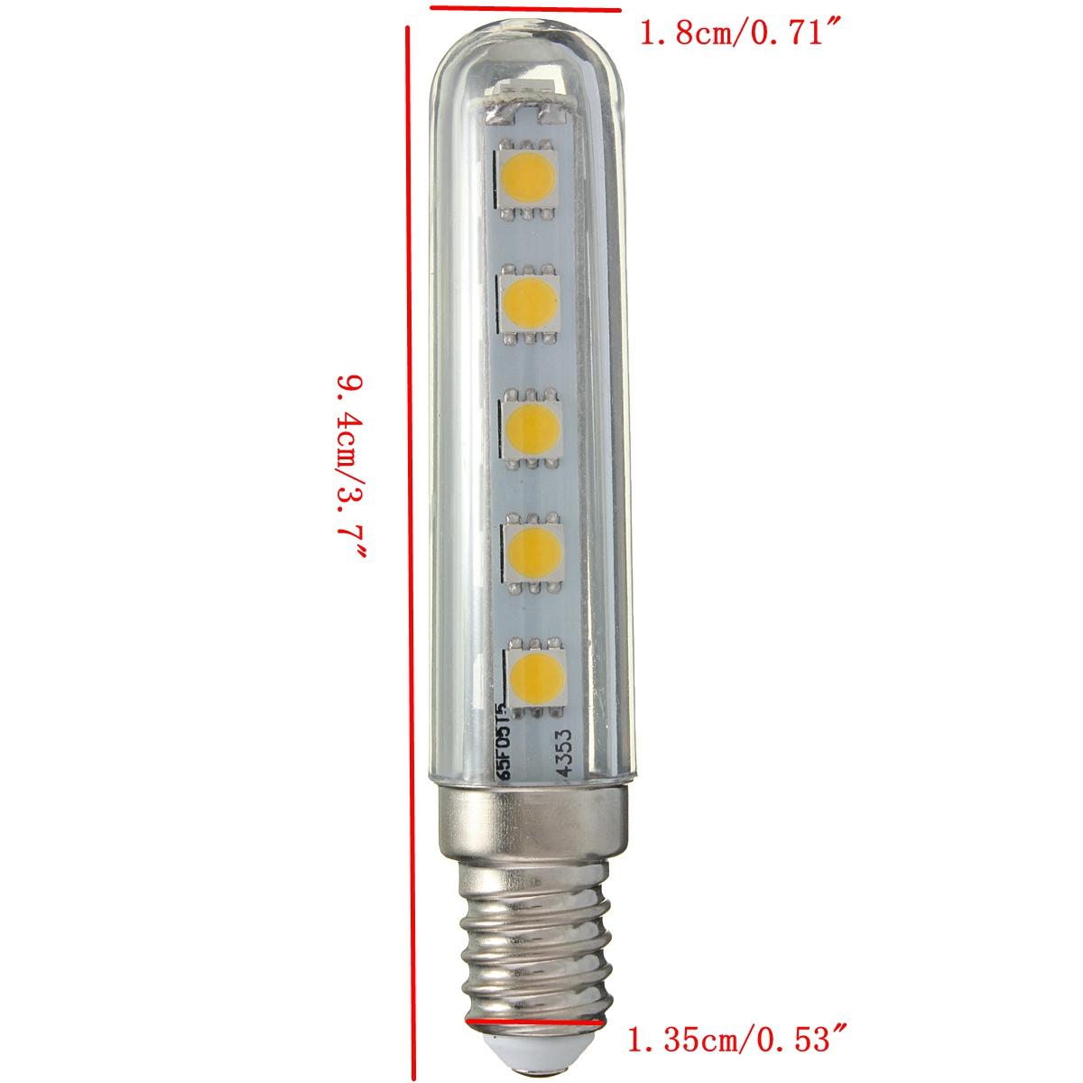 2X E14 2.5W SMD5050 16LEDs Warm White Light Bulb for Kitchen Refrigerator Gallery AC220V