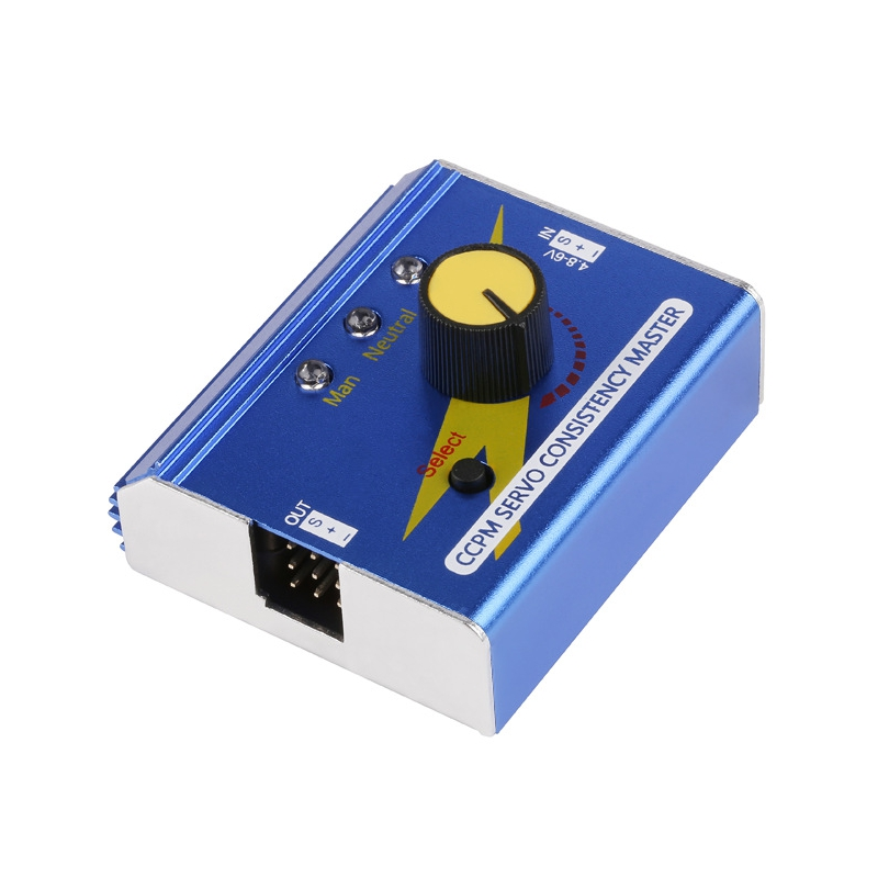 Metal Case Multi-function 3CH ESC Servo Tester Digital Analog CCPM Consistency Master Checker For RC Airplane