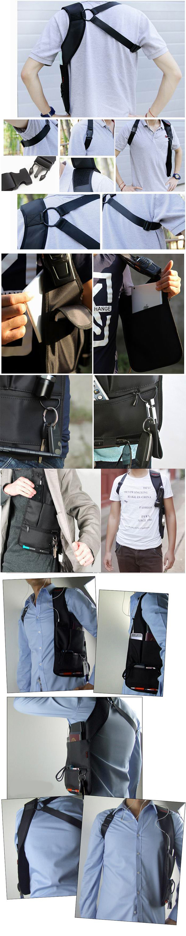 Anti Theft Armpit Cross-package Security Holster Strap Messenger Bags Underarm Phone Burglarproof
