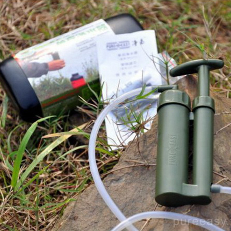 Outdoor Survival Water Filter Purifier Pump Drinking Pipe Cleaner For Camping Emergency