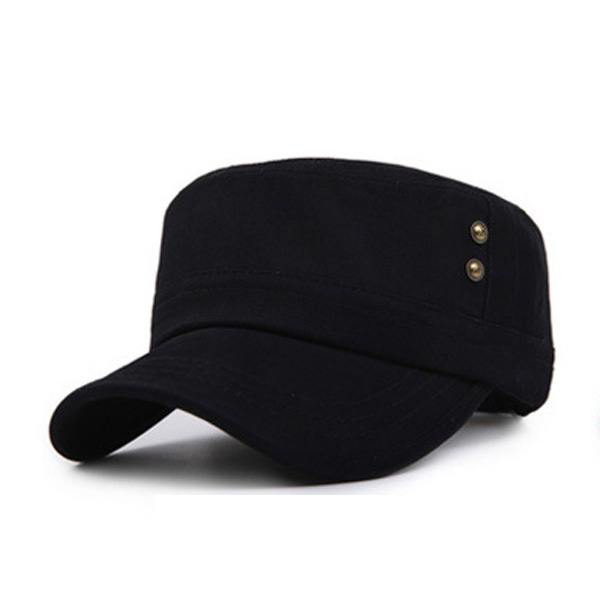 Unisex Flat Top Hat Outdoor Sports Cotton Military Sun Visor Breathable Cap