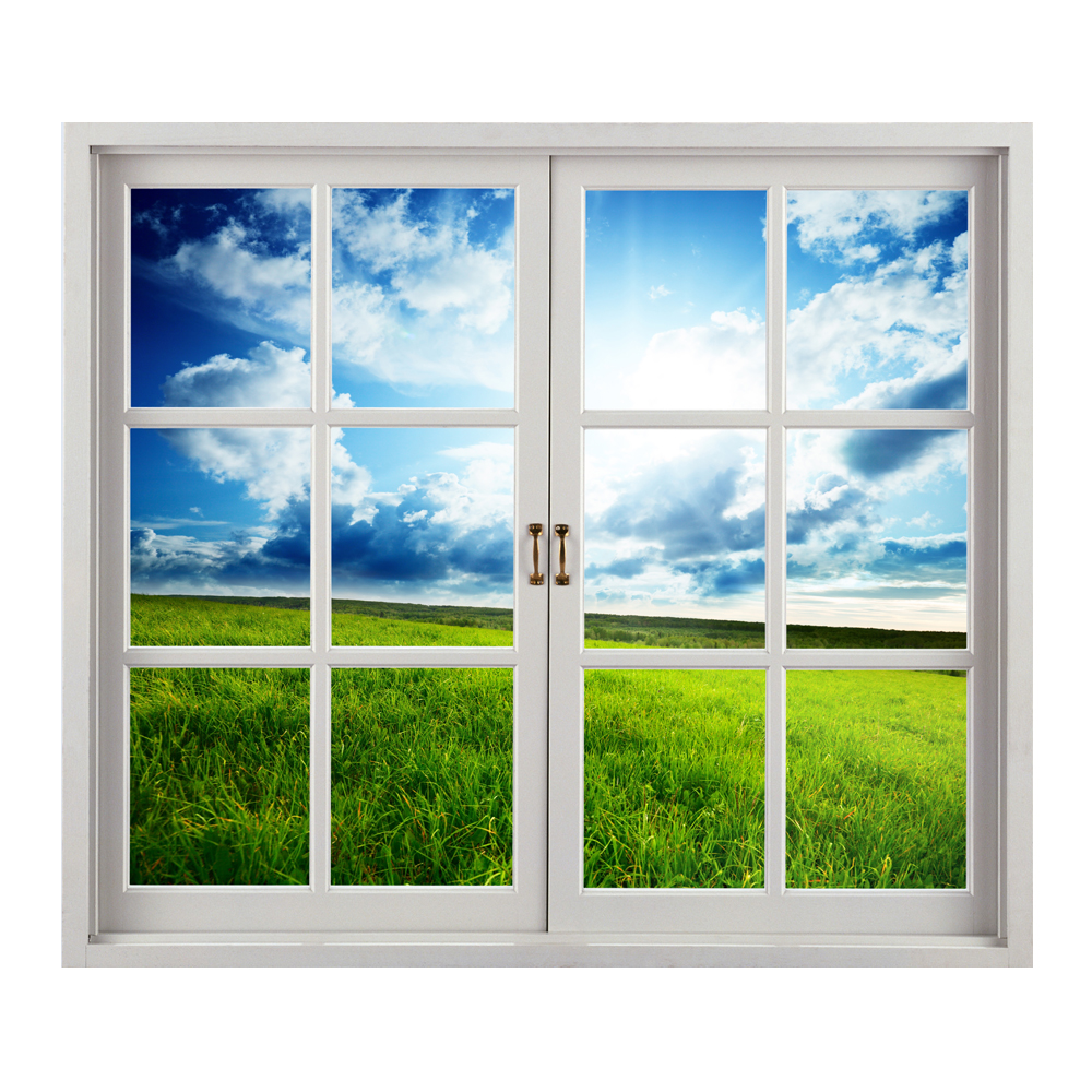 Grassland 3D Artificial Window View Blue Sky 3D Wall Decals Room PAG Stickers Home Wall Decor Gift