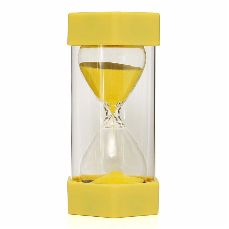 New 15 Minutes Plastic Frame Sand Glass Sand Glass Hourglass Timer Clock Decor