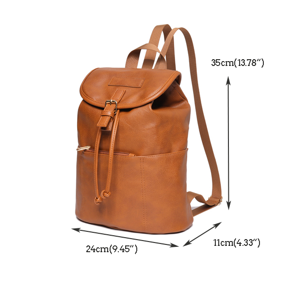 Trend Solid Pure Color Large-capacity Ladies Backpack Should