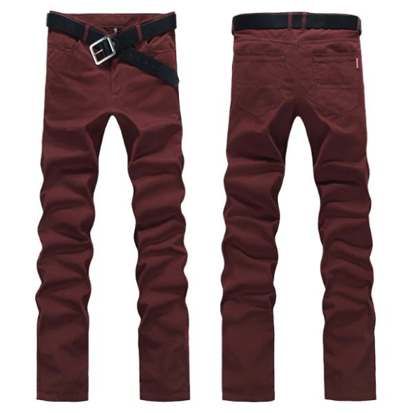 Plus Size Mens 6 Colors Fashion Casual Straight Slim Fit Cotton Concise Design Pants