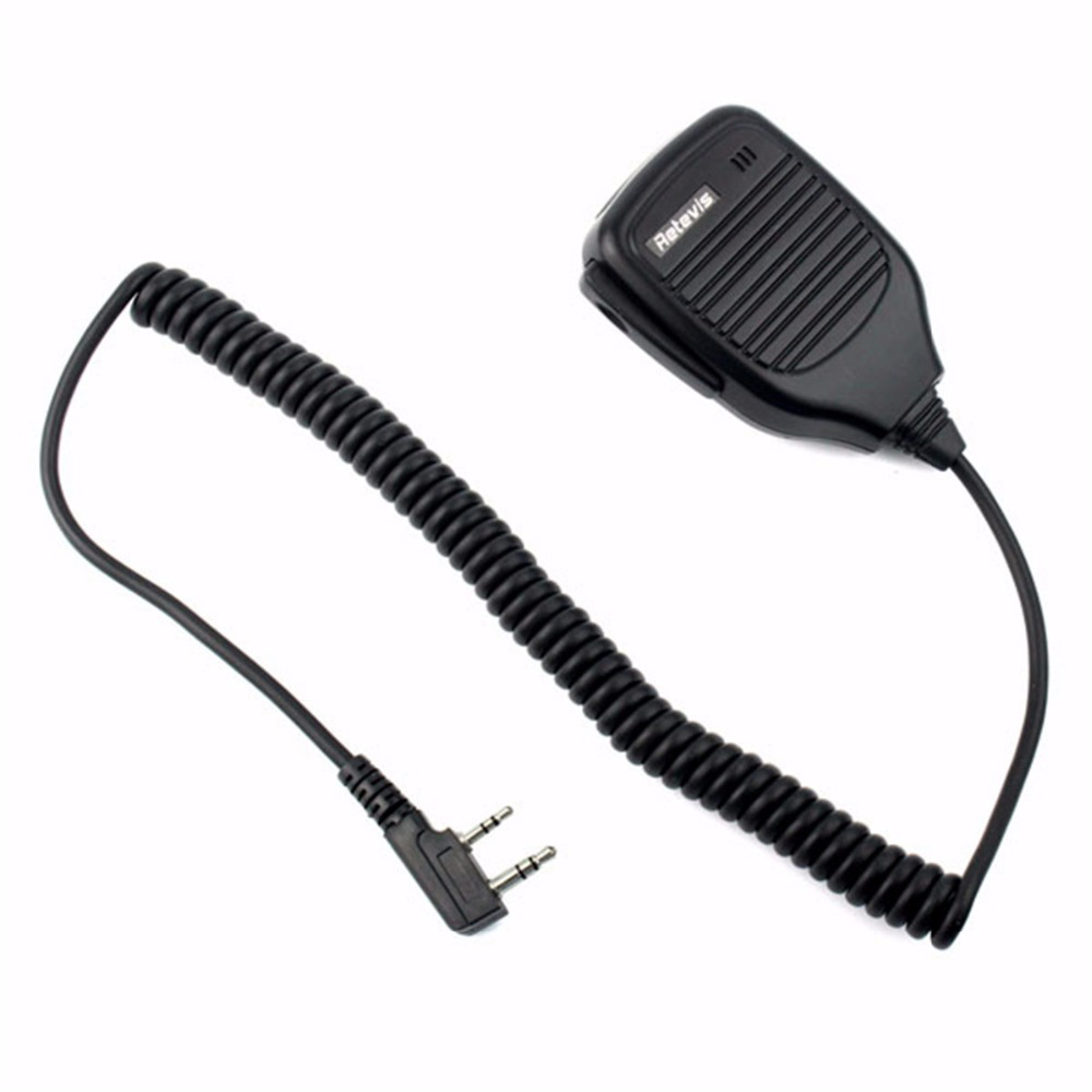 Retevis 2Pin PTT Speaker Microphone Walkie Talkie Mic Accessories For Baofeng BF-888S RT5R H777 For Kenwood Radio C9001