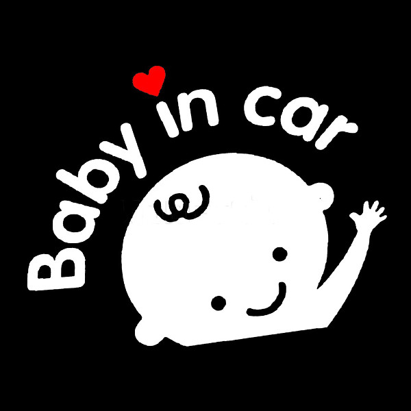 Baby In Car Waving Baby on Board Safety Sign Cute Car Decal Vinyl Sticker